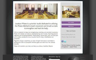 Pilates web design