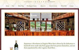 winery web design