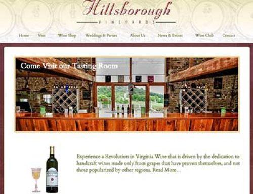 Loudoun Vineyard Website Design
