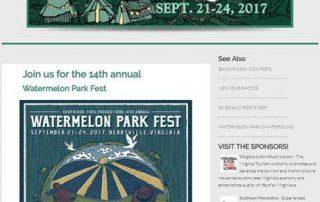 music fest web design