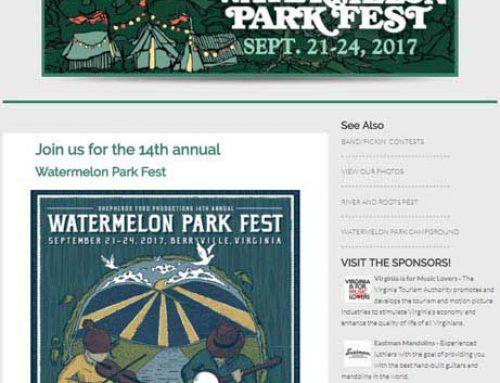 Website Design for Festivals and Bands