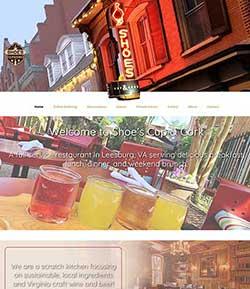 fine restaurant web design