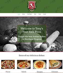 pizza website development